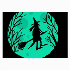Halloween witch - cyan moon Large Glasses Cloth (2-Side)
