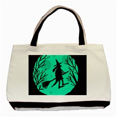 Halloween witch - cyan moon Basic Tote Bag (Two Sides)