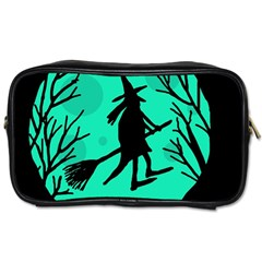 Halloween witch - cyan moon Toiletries Bags