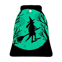 Halloween witch - cyan moon Bell Ornament (2 Sides)