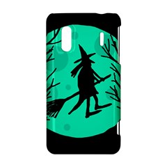 Halloween witch - cyan moon HTC Evo Design 4G/ Hero S Hardshell Case