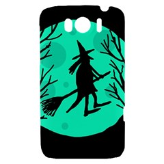 Halloween witch - cyan moon HTC Sensation XL Hardshell Case