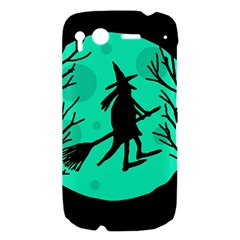 Halloween witch - cyan moon HTC Desire S Hardshell Case
