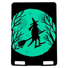 Halloween witch - cyan moon Kindle Touch 3G