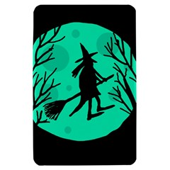 Halloween witch - cyan moon Kindle Fire (1st Gen) Hardshell Case
