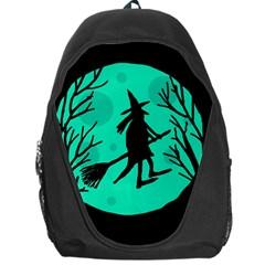 Halloween witch - cyan moon Backpack Bag