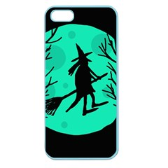 Halloween witch - cyan moon Apple Seamless iPhone 5 Case (Color)