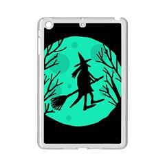 Halloween witch - cyan moon iPad Mini 2 Enamel Coated Cases