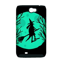 Halloween witch - cyan moon Samsung Galaxy Note 2 Hardshell Case (PC+Silicone)