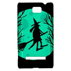 Halloween witch - cyan moon HTC 8S Hardshell Case