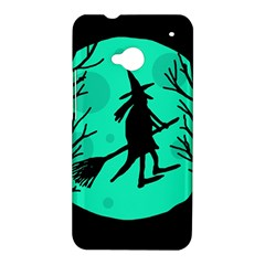 Halloween witch - cyan moon HTC One M7 Hardshell Case