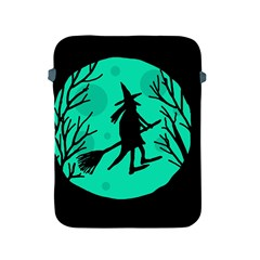 Halloween witch - cyan moon Apple iPad 2/3/4 Protective Soft Cases