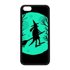 Halloween witch - cyan moon Apple iPhone 5C Seamless Case (Black)