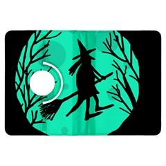 Halloween witch - cyan moon Kindle Fire HDX Flip 360 Case