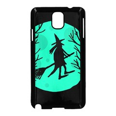 Halloween witch - cyan moon Samsung Galaxy Note 3 Neo Hardshell Case (Black)