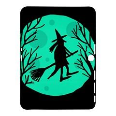 Halloween witch - cyan moon Samsung Galaxy Tab 4 (10.1 ) Hardshell Case