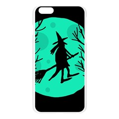 Halloween witch - cyan moon Apple Seamless iPhone 6 Plus/6S Plus Case (Transparent)
