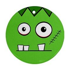 Halloween Frankenstein - green Ornament (Round)