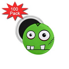 Halloween Frankenstein - green 1.75  Magnets (100 pack)
