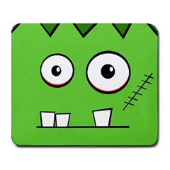 Halloween Frankenstein - green Large Mousepads