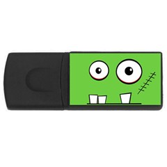 Halloween Frankenstein - green USB Flash Drive Rectangular (2 GB)