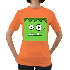 Halloween Frankenstein - green Women s Dark T-Shirt