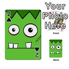 Halloween Frankenstein   Green Playing Cards 54 Designs