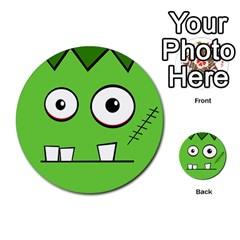 Halloween Frankenstein - green Multi-purpose Cards (Round)
