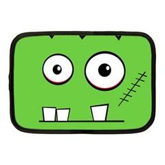Halloween Frankenstein - green Netbook Case (Medium)