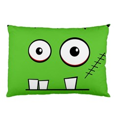 Halloween Frankenstein - green Pillow Case
