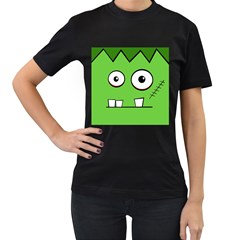 Halloween Frankenstein - green Women s T-Shirt (Black)