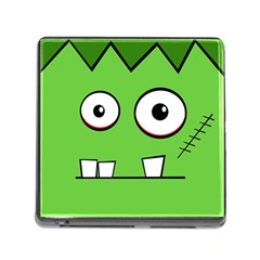 Halloween Frankenstein - green Memory Card Reader (Square)