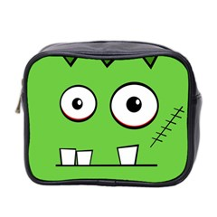 Halloween Frankenstein - green Mini Toiletries Bag 2-Side