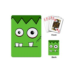 Halloween Frankenstein - green Playing Cards (Mini)