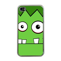 Halloween Frankenstein - green Apple iPhone 4 Case (Clear)