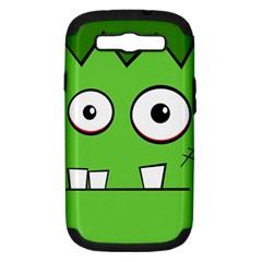 Halloween Frankenstein - green Samsung Galaxy S III Hardshell Case (PC+Silicone)