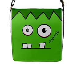 Halloween Frankenstein - green Flap Messenger Bag (L)