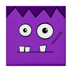 Halloween Frankenstein - Purple Tile Coasters