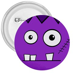 Halloween Frankenstein - Purple 3  Buttons