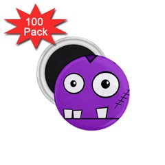 Halloween Frankenstein - Purple 1.75  Magnets (100 pack)