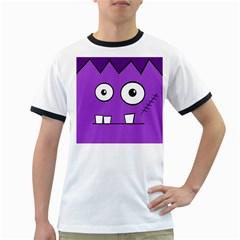 Halloween Frankenstein - Purple Ringer T-Shirts
