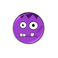 Halloween Frankenstein - Purple Hat Clip Ball Marker
