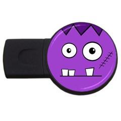 Halloween Frankenstein - Purple USB Flash Drive Round (4 GB)