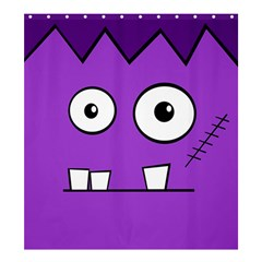 Halloween Frankenstein - Purple Shower Curtain 66  x 72  (Large)