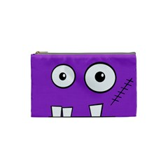 Halloween Frankenstein - Purple Cosmetic Bag (Small)