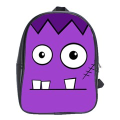 Halloween Frankenstein - Purple School Bags(Large)