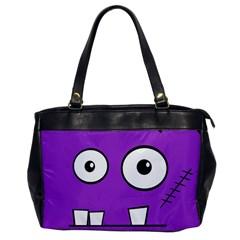 Halloween Frankenstein - Purple Office Handbags