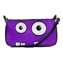 Halloween Frankenstein - Purple Shoulder Clutch Bags