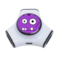 Halloween Frankenstein - Purple 3-Port USB Hub