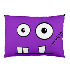Halloween Frankenstein - Purple Pillow Case (Two Sides)